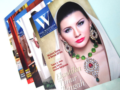 the windsor apartment magazine puri indah cover featuring reny feby jewelry