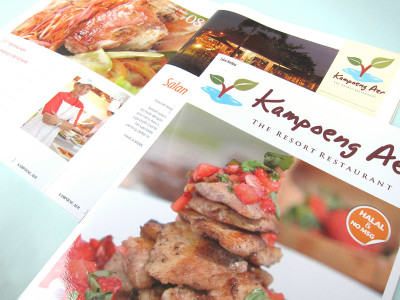 kampoeng aer menu magazine serpong food cover