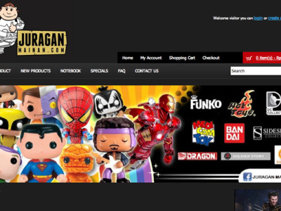 juraganmainan website designed by 99A, funko, toys on fire, storm trooper, superman, iron man