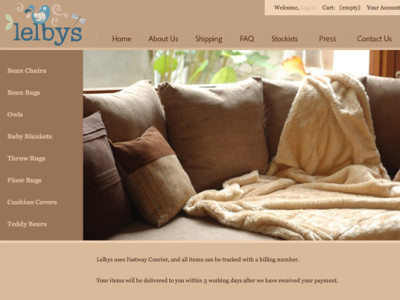 lelbys australia website designed by 99A