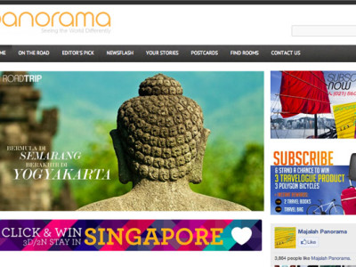 panorama e-magazine website by 99A