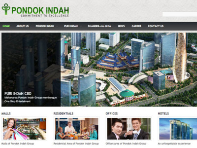 pondok indah group corporate website designed by 99A